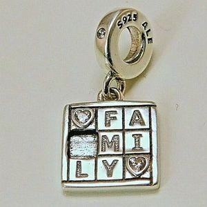 Pandora Family Game Night Dangle Charm, Clear CZ